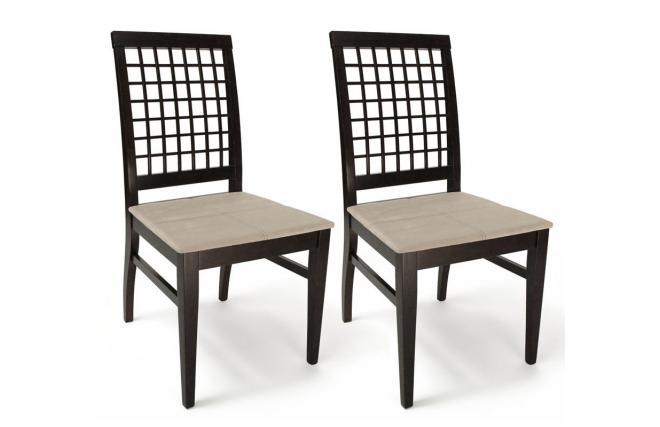 k chenst hle esszimmerst hle korina farb wenge sitzfl che aus sandfarbener mikrofaser. Black Bedroom Furniture Sets. Home Design Ideas