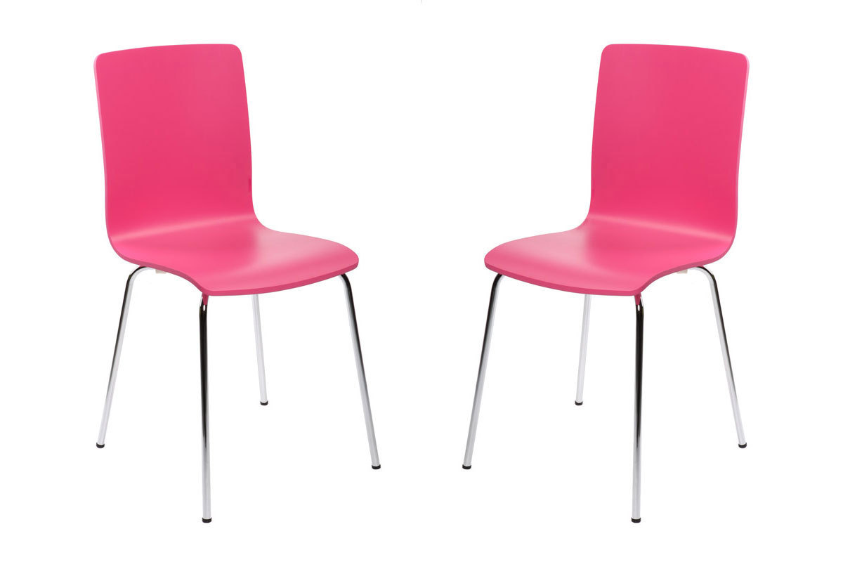 K chenst hle nelly design rosa 2 miliboo for Design kuchenstuhle