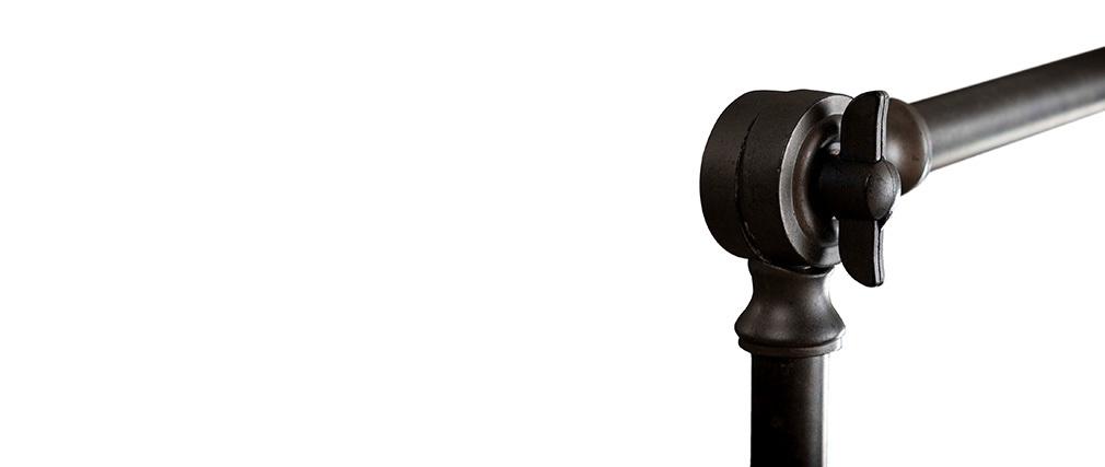 Lampe Industrie-Stil Metall Anthrazit BUCKET