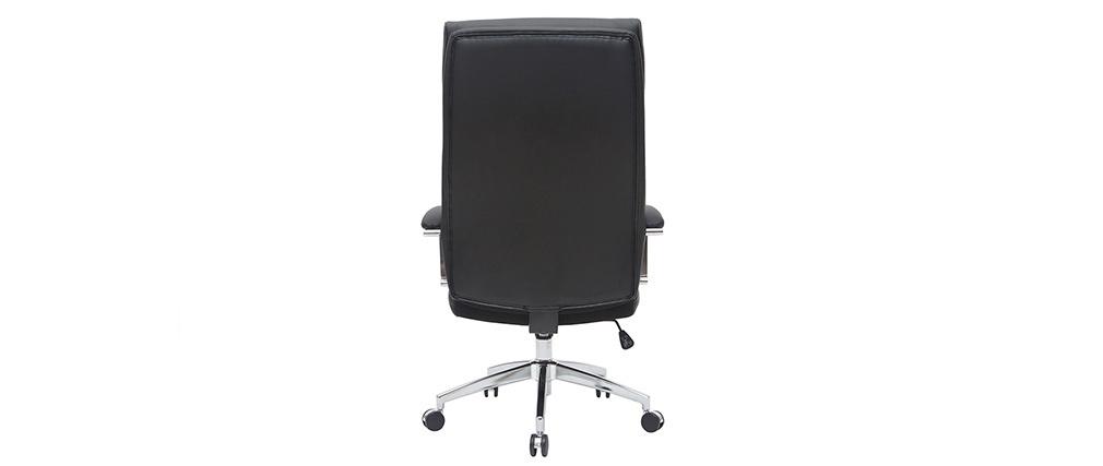 Leder-Bürosessel Schwarz CITY - Rindsleder
