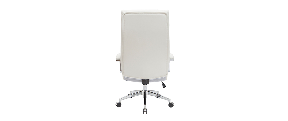 Leder-Bürosessel Weiß CITY - Rindsleder