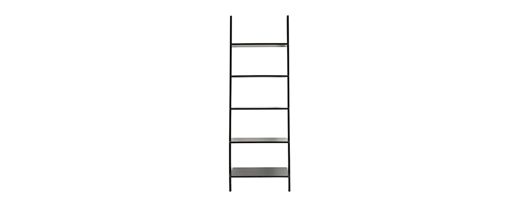 Leiter-Wandregal aus schwarzem Holz CAMINO