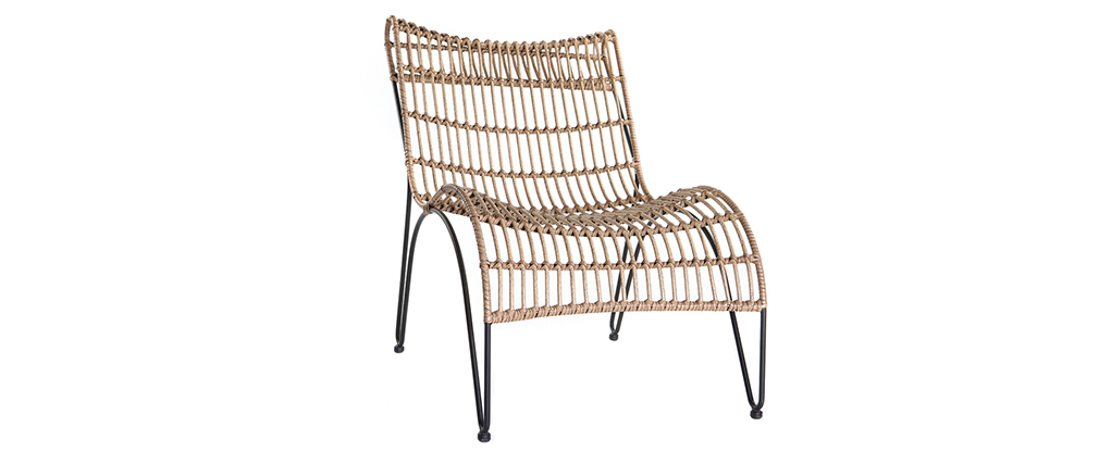 Liegestuhl BELLAVISTA aus Kunststoffgeflecht im Rattanstil