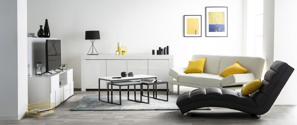 Liegestuhl/Design-Stuhl TAYLOR Weiß