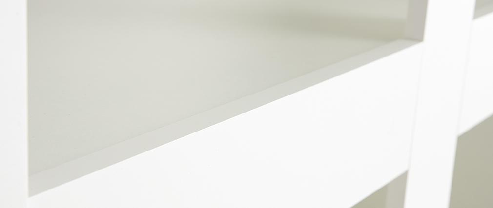 Mattweiß lackiertes Designer-Bücherregal TINO