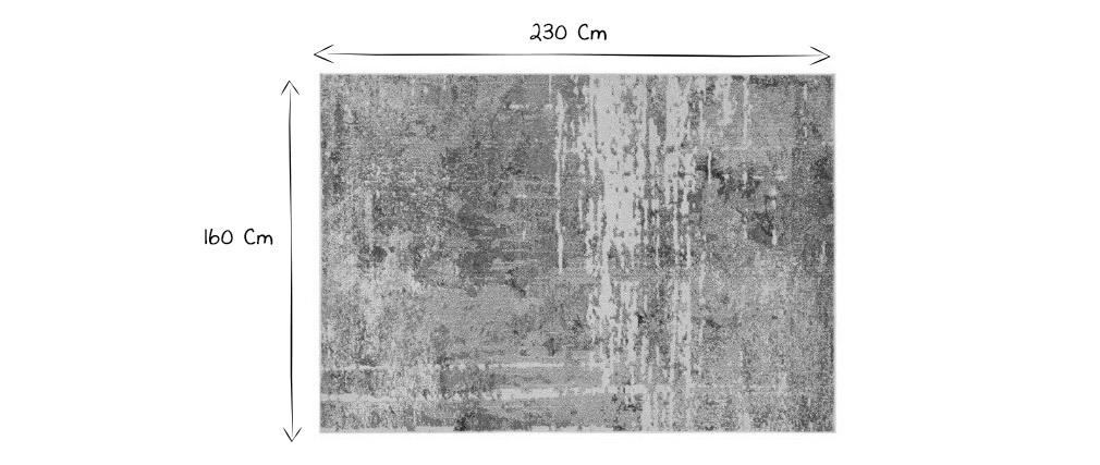 Mehrfarbiger moderner Teppich 160 x 230 cm TAG