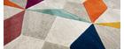Mehrfarbiger Teppich 160 x 230 cm DAUDET