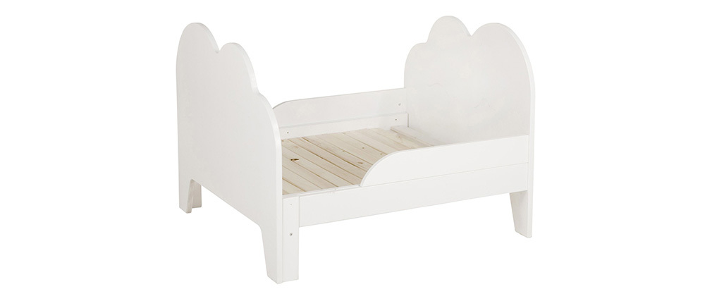 Mitwachsendes Kinderbett weiße Wolke AERO