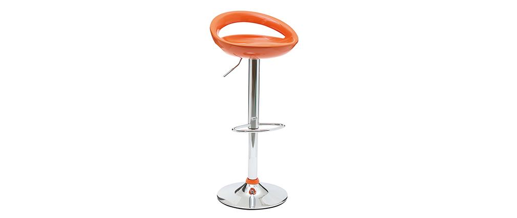 Moderner Barhocker / Küchenhocker Orange COMET (2 Stck.)