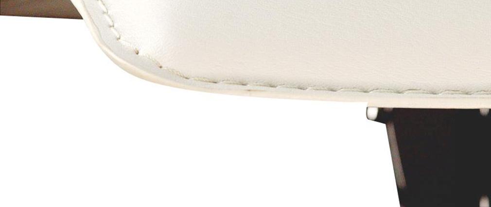 Moderner Barhocker / Küchenhocker SURF ALTO Weiß (2 Stck.)