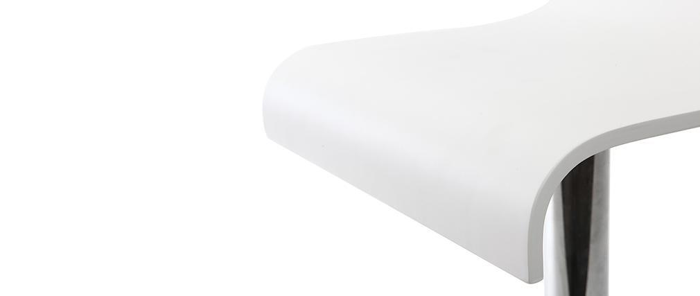 Moderner Barhocker / Küchenhocker Weiß NEWSURF (2 Stck.)