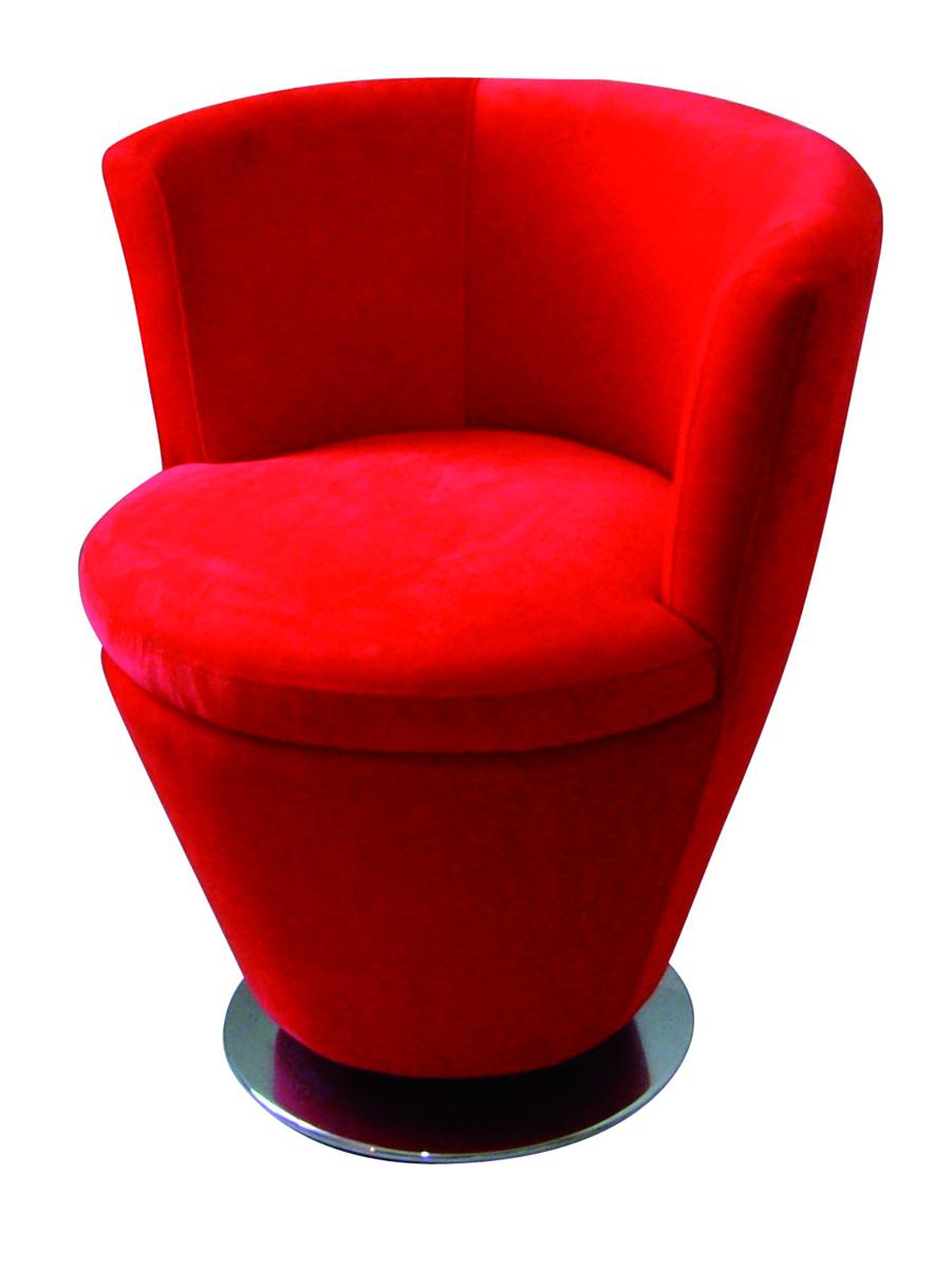 moderner roter sessel cooper miliboo. Black Bedroom Furniture Sets. Home Design Ideas