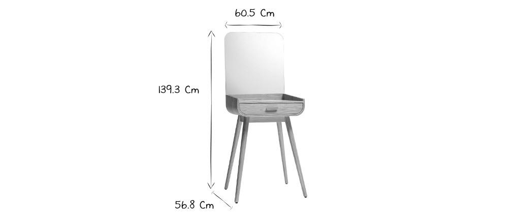 Moderner Schminkschrank mit Stauraum und Eschenspiegel HALLEN - Miliboo & Stéphane Plaza