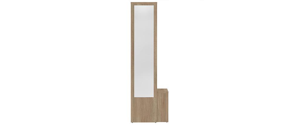 Modulare Eingangseinheit OLLY mit Garderobe, Spiegel und Holzregalen