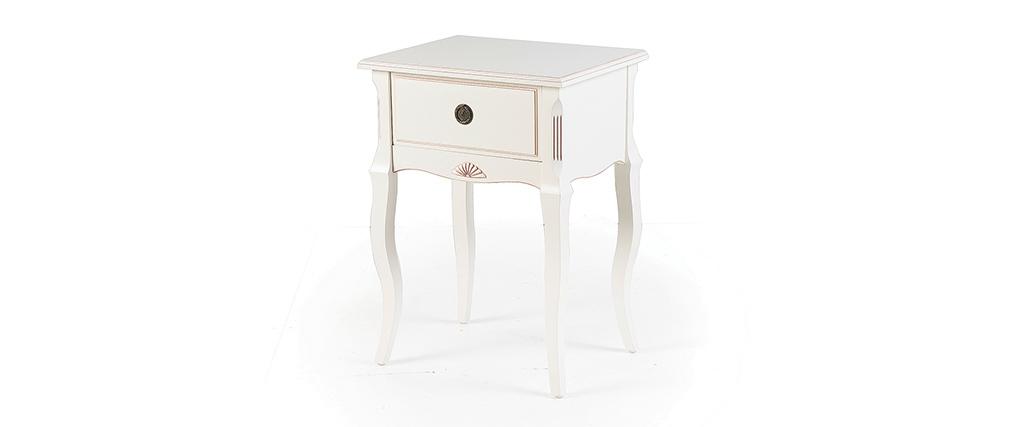 Nachttisch Barock Holz Weiß BIANCA