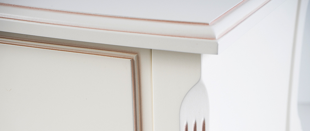nachttisch barock holz wei bianca miliboo. Black Bedroom Furniture Sets. Home Design Ideas