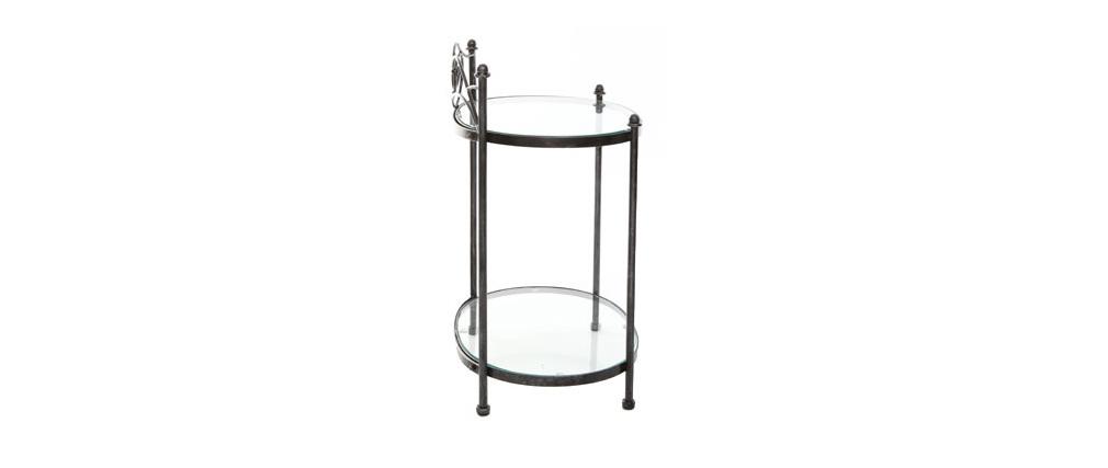 Nachttisch im Barockstil VENEZIA Metall Schwarz