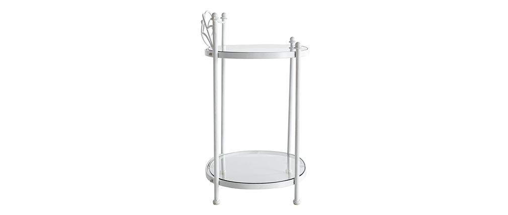 Nachttisch im Barockstil VENEZIA Metall Weiß