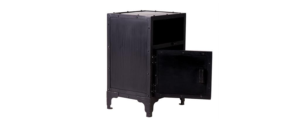 nachttisch in schwarz komplettes dublin weiss schwarz hochglanz with nachttisch in schwarz. Black Bedroom Furniture Sets. Home Design Ideas