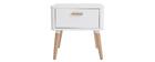 Nachttisch skandinavisch Weiß und Holz TOTEM ? Miliboo |1| Stéphane Plaza