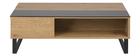 Niedriger Tisch verstellbar aus Holz und Metall WYNN