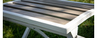 Outdoor-Esszimmer mit Tisch und 2 Klappstühlen Weiß und Grau MOJITO