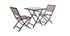 Outdoor-Esszimmer zusammenklappbar mit Tisch und 2 Stühlen Schwarz und Holz MOJITO