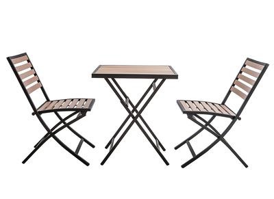 Bistrotisch Mit Stühlen Outdoor.Outdoor Esszimmer Zusammenklappbar Mit Tisch Und 2 Stühlen Schwarz Und Holz Mojito