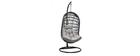 Outdoor-Hängesessel aus grauem Seil und Metall BAIA