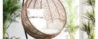 Ovaler Hängesessel aus Kunststoff im Rattanstil MOJO