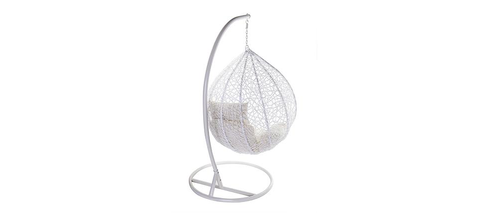 Ovaler Hängesessel, weißer Kunststoff MOJO