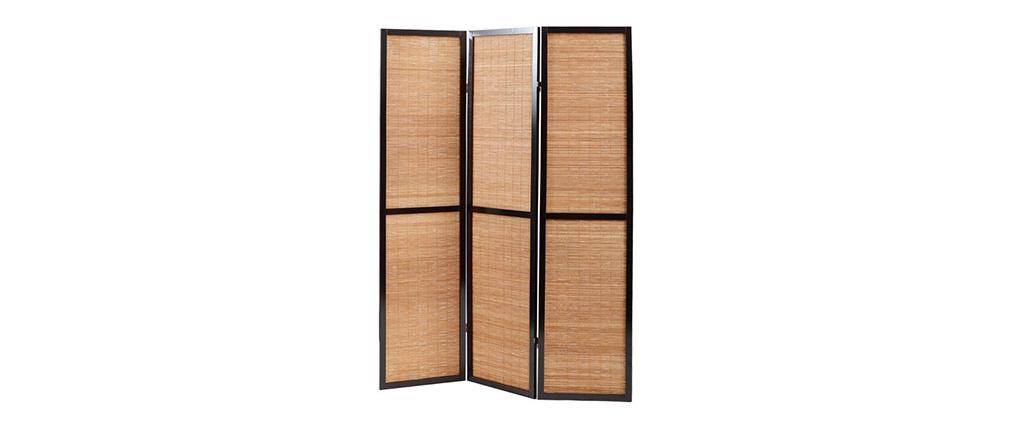 Paravent aus Bambus und Holz im asiatischen Stil Suwa