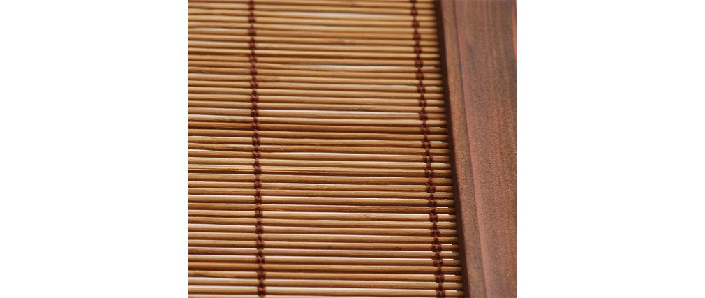 Paravent aus Bambus und Tannenholz NIHA