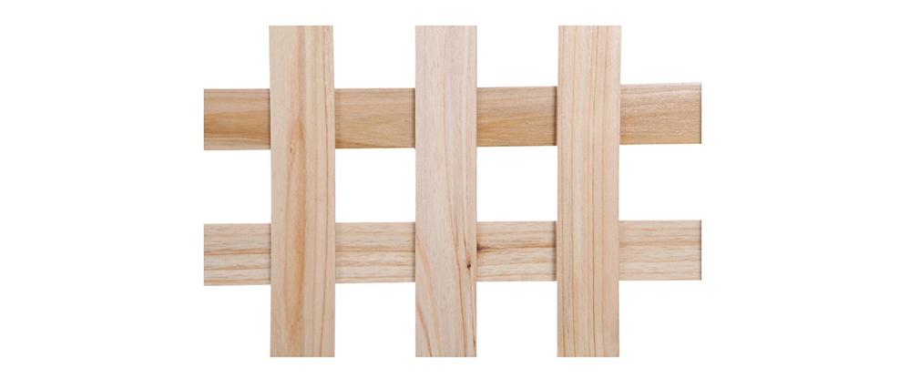 Paravent aus Holz Natur AKKIKO
