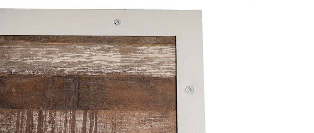 Paravent Holz und Metall Weiß ROCHELLE
