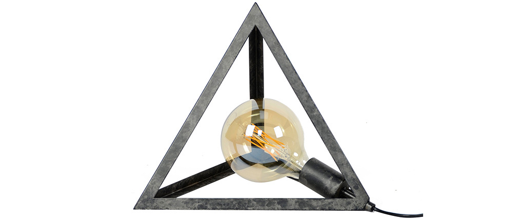 Pyramiden-Stehlampe altsilber LOUVRE