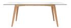 Rechteckiger Design-Esstisch DAVOS L200 Glasplatte