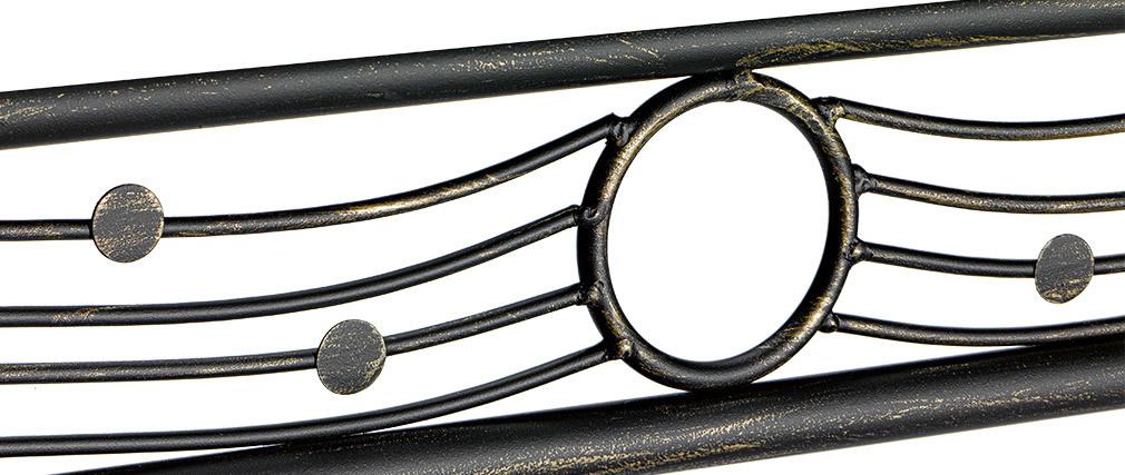 Rechteckiger Esstisch aus Stahl und Glas Florence