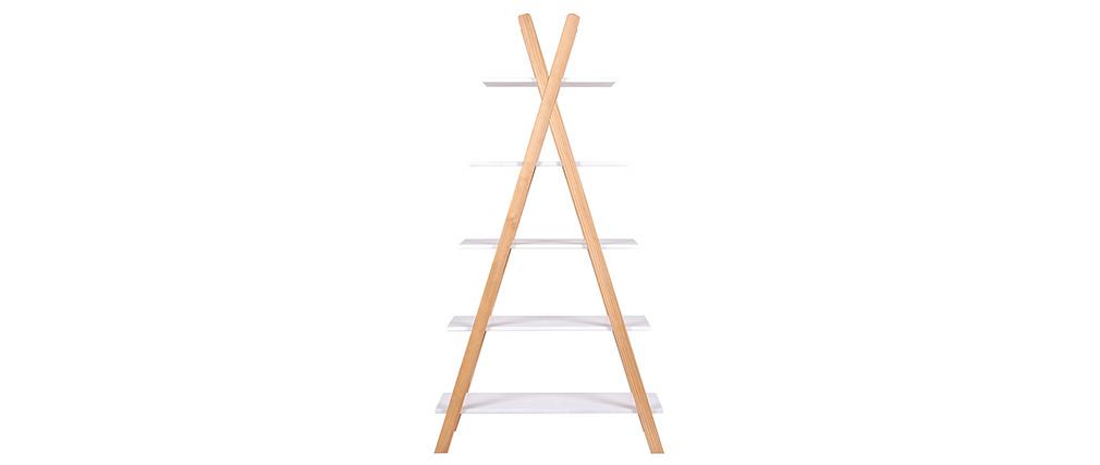 Regal helles Holz und Weiß skandinavischer Stil APACHE