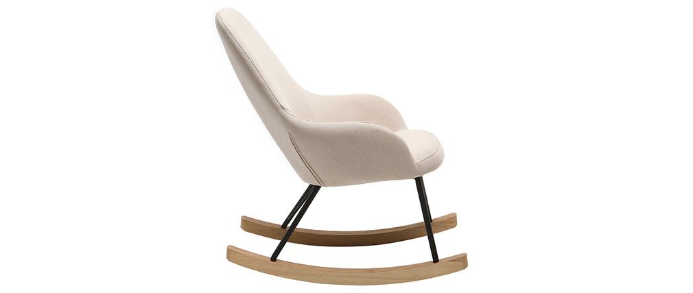 Relax sessel baby schaukelstuhl stoff naturfarben f e for Sessel schaukelstuhl