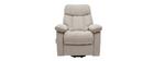 Relax-Sessel elektrisch neigbar crèmefarbener Stoff MOVIE