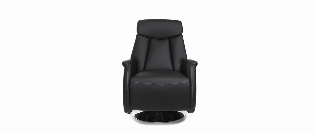 Relax-Sessel manuell verstellbar Schwarz EDDY