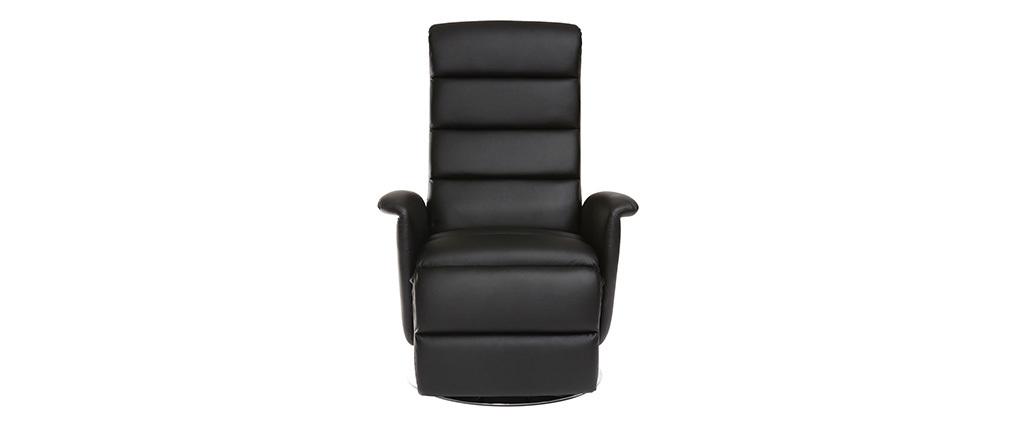 Relax-Sessel manuell verstellbar Schwarz NELSON