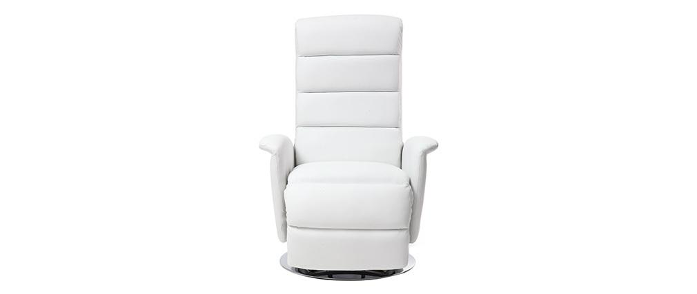 Relax-Sessel manuell verstellbar Weiß NELSON