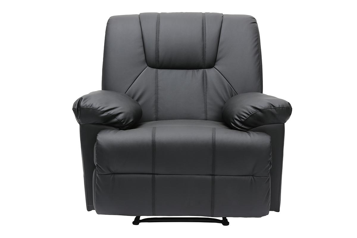 relax sessel ross schwarz miliboo. Black Bedroom Furniture Sets. Home Design Ideas