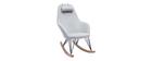 Relax-Sessel - Schaukelstuhl Stoff Grau Füße Metall und Esche JHENE