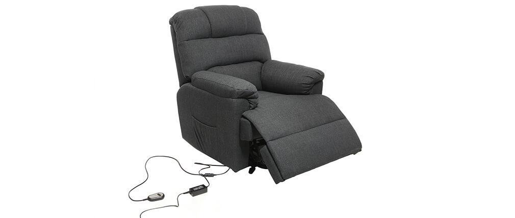 Relaxsessel elektrisch mit Aufstehfunktion PHOEBE Grau