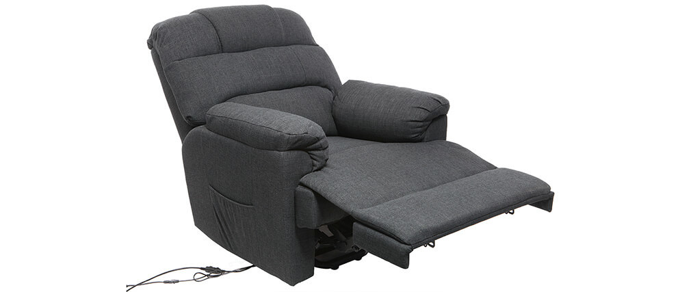 relaxsessel elektrisch mit aufstehfunktion phoebe grau miliboo. Black Bedroom Furniture Sets. Home Design Ideas