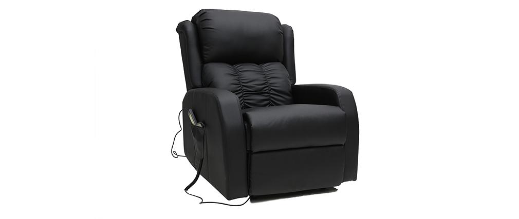 Relaxsessel elektrisch mit Massagefunktion GALLER Schwarz