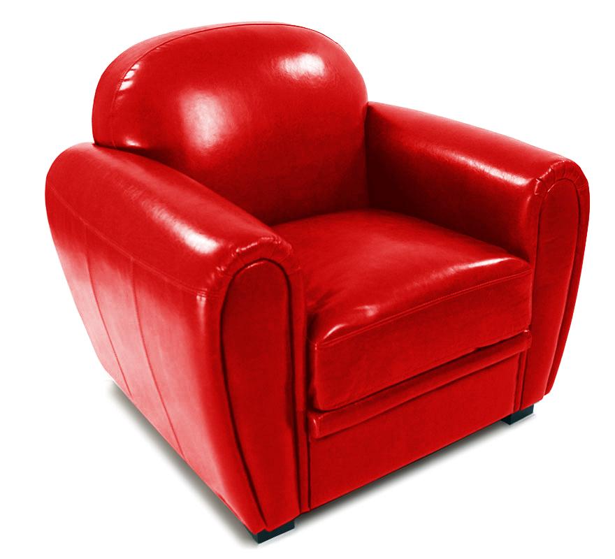 roter club sessel aus b ffel leder miliboo. Black Bedroom Furniture Sets. Home Design Ideas